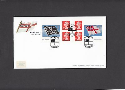 2001 Flags & Ensigns self adhesive booklet Gosport special handstamp