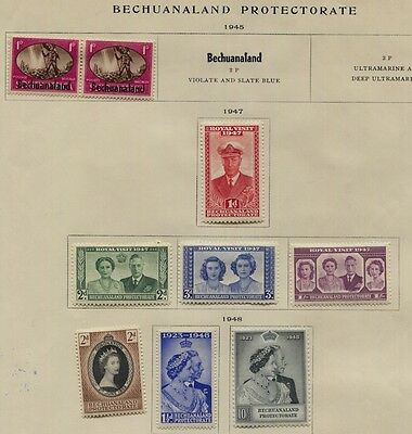 Bechuanaland 1948 Royal Silver Wedding MLH Sc #147-148 + Others