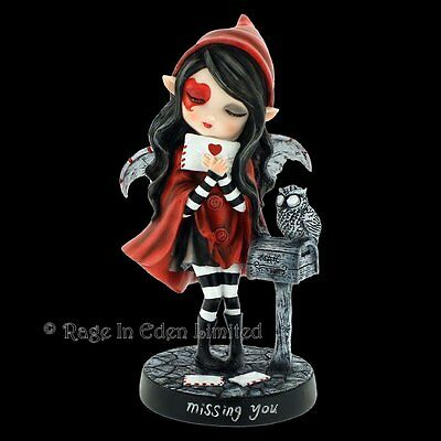 *MISSING YOU* Fantasy Fairy Hand Painted Resin Figurine By Nemesis Now (17.5cm)