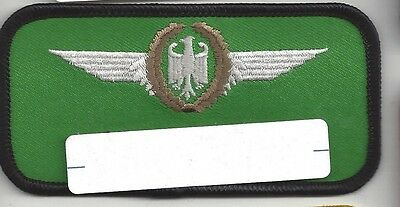 Patch German West German Air Force Pilot Name Tag Nametag