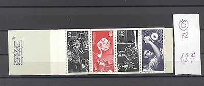 Sweden 1972 MNH booklet.Glass Industry.See scan.