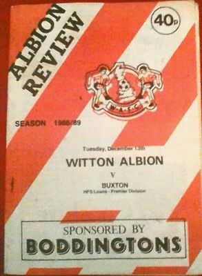 WITTON ALBION v SOUTH LIVERPOOL.  29/1/1991