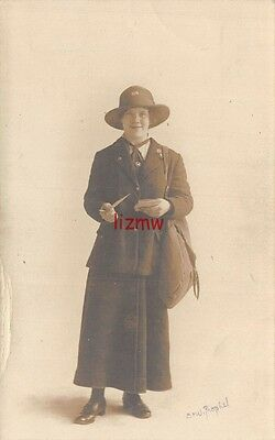 Dundee Lady Postman Postwoman Poses With Her Sack Holding Letters Photo Card