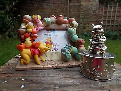 Winnie The Pooh Character Photo Frame & Silver Plated Musical Box~Tigger~Eeyore