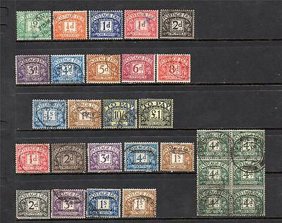 Gb Postage Dues Used Selection