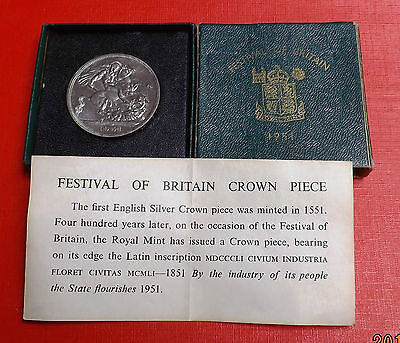 George V1 1951 Crown In Green Box And Coa Nice Rare Coin