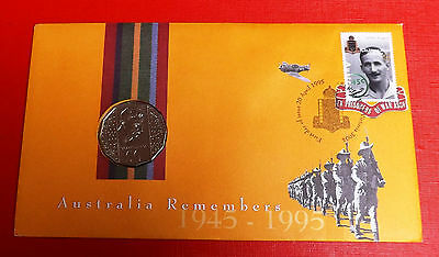 Australia 1995 Australia Remembers First Day Cover With 1995 50 Aus Cent