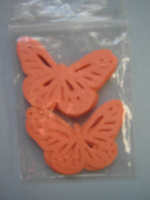 40 Monarch Butterfly ORANGE Paper Punchies Wedding Confetti Card Making