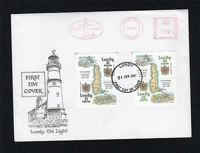 Lundy: 1997 Lundy Lighthouses First Day Cover