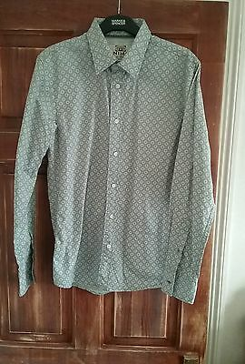 "mens small formal grey pattern shirt ""surf animal classic collection"" new  party"