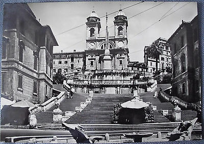 Italy Rome - Spain Square -  unposted 1950's postcard