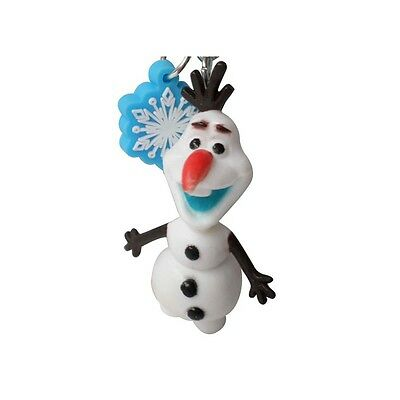 Genuine Disney Frozen 'Olaf' 3D Snowman Figure and Snowflake Charm Keyring Gift