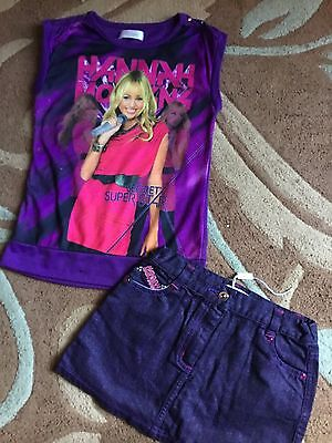 Girls DISNEY STORE Hannah Montana Outfit Age 7-8 Yrs