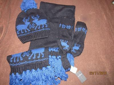 Boys NWT & NOT Abercrombie & Fitch Scarf, Mittens & Hat