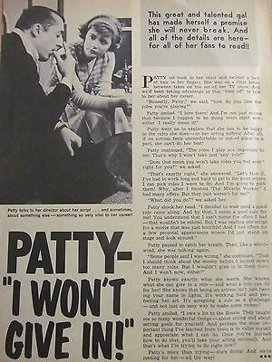 Patty Duke, Full Page Vintage Clipping