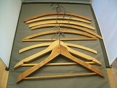 Eight Vintage Wooden Clothes Hangers