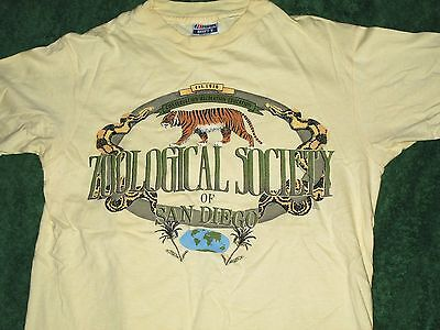 Zoological Society Of San Diego 80s t shirt tiger medium