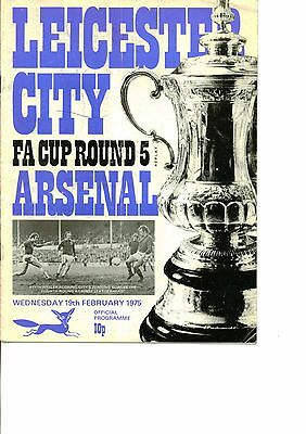 Leicester City v Arsenal 1974/75 FA Cup 5th round replay