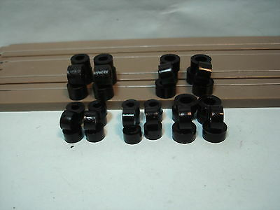Bud's Tire Sampler Pack #2 20 Pr Of Silicone Black Tires Fits H.o. Scale Chassis