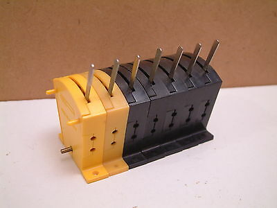 7 x TRIANG /HORNBY - yellow / BLACK POINT MOTOR LEVER SWITCHES