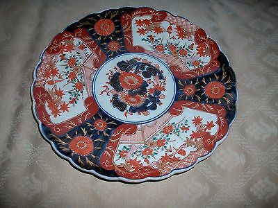 """Antique Japanese Large Imari Charger 12""""  Very Good Condition For Its Age"""