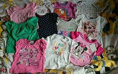 baby girl t-shirts tops size 12-18 months