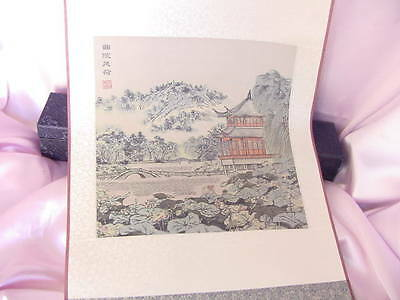 Chinese Hand Painted Landscape Panel Scroll On Silk Painting Nr