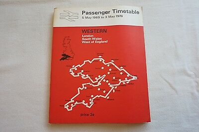 BR Passenger Services Railway Timetable Western Region May 1969 - May 1970