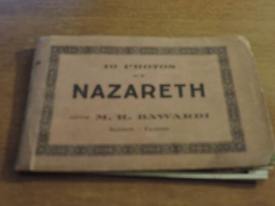 10 photos ( postcards) of Nazareth cover tatty- loose postcards mostly good