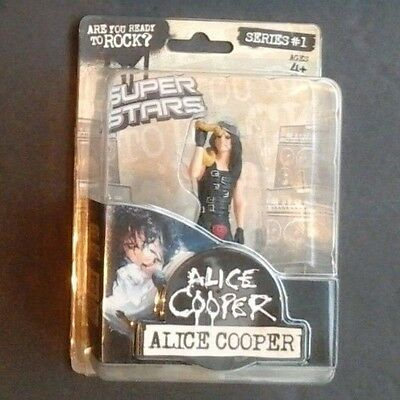 Limited Edition Alice Cooper 2009  Nightmare Super Stars Action Figure Toy Snake