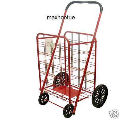 NEW Extra Large Red Heavy Duty Shopping Grocery Cart