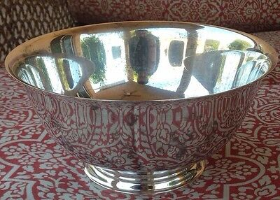"""LARGE Sterling Silver Paul Revere Footed 9"""" Dish Bowl by International 485g"""
