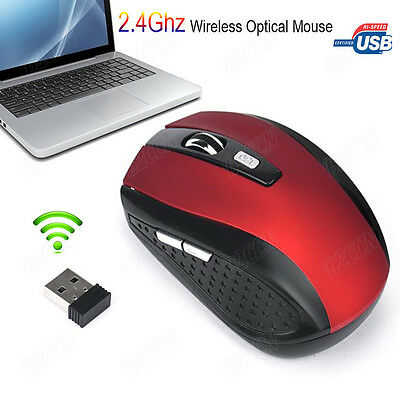 2.4GHz 2400DPI Wireless Optical Mouse Mice + Cordless USB Receiver for PC Laptop