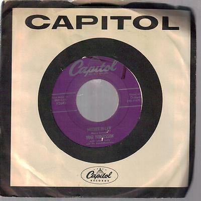 UNCOMMON YOGI YORGESSON on CAPITOL 45rpm: Mother-in-law