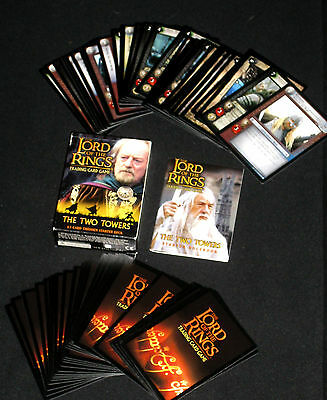 2002 Lord of the Rings Trading Card Game 63 Card Theoden Starter Deck & Bklt