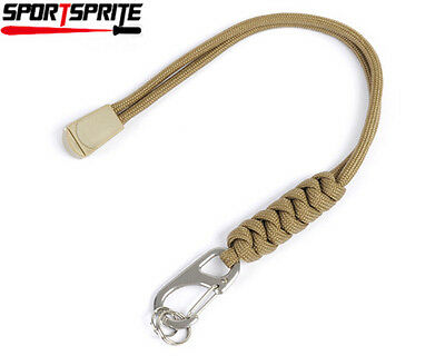 Paracord Lanyard Strap for Surefire Flashlight Army Knife Coyote Brown