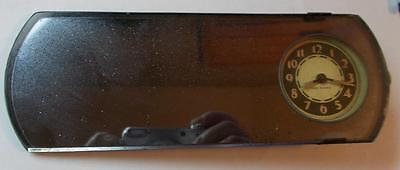 Rear View Mirror with a Clock by New Haven for Parts, Repair or Crafts