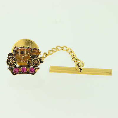 General Motors Company Service Pin - 10k Gold Syn. Rubies Fisher Body