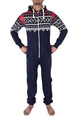 Mens Stylish All in One Jumpsuit One Piece Pyjamas