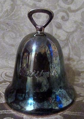 """Reed & Barton Silverplate Bell Engraved """"Christmas"""" No Date Have it Personalized"""