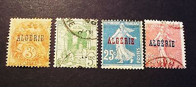 Algeria Stamp  Set *1924-26 *Vintage*  Used* Overprint*Choice (Ag4)X