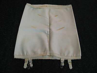 Vintage 1940-50s Open Bottom Rubber Girdle w/ Garters Extra Large-pinup