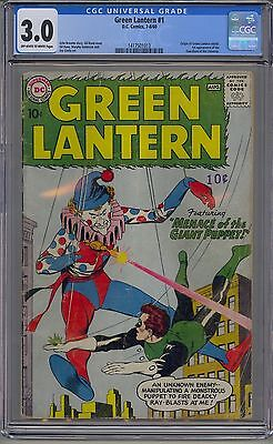 Green Lantern #1 Cgc 3.0 Off-White To White Pages