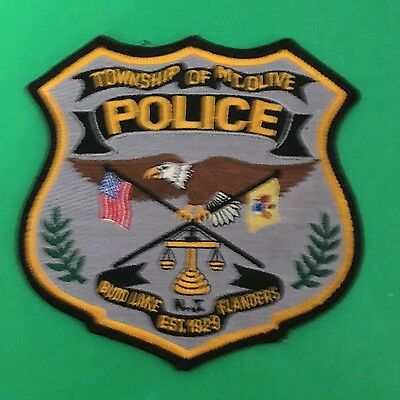Mt.olive New Jersey  Police  Shoulder Patch     L@@k At My Store