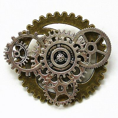 foryou steampunk jewelry pendant necklace brooch mechanical style gears SP388