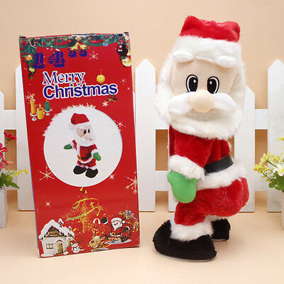 X-mas Santa Claus Figure Twisted Hip Twerking Electric Toy Kids Gift Creative HF