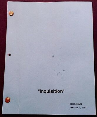 """Star Trek Deep Space Nine Script """"Inquisition"""" Annotated by Stunt Woman"""