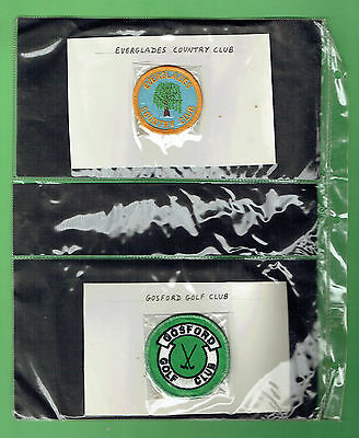 #bb.  Collection Of 24 Australian  Golf Cloth Patches