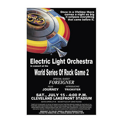 Electric Light Orchestra / ELO 1978 Cleveland Concert Poster