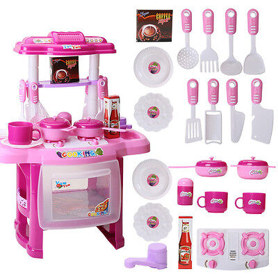 Electronic Children Kids Kitchen Cooking Girl Toy Cooker Play Birthday Gift